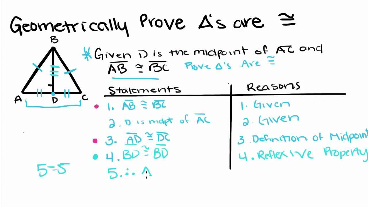 Geometry 4 Prov G Tri Ngles C Gruent Youtube