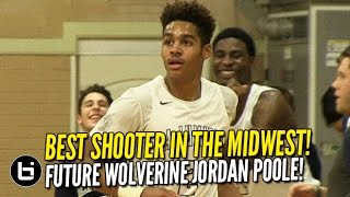 The Best Shooter in the Midwest is Jordan Poole! Future Michigan Wolverine is SHIFTY!