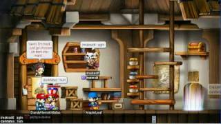 Maple Story Drop Game *epic* btw watch then comment