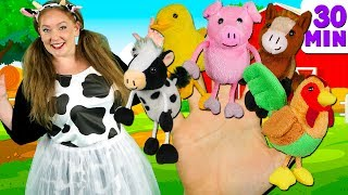 Farm Animals Finger Family and more Animals Songs | Finger Family Collection - Learn Animals Sounds