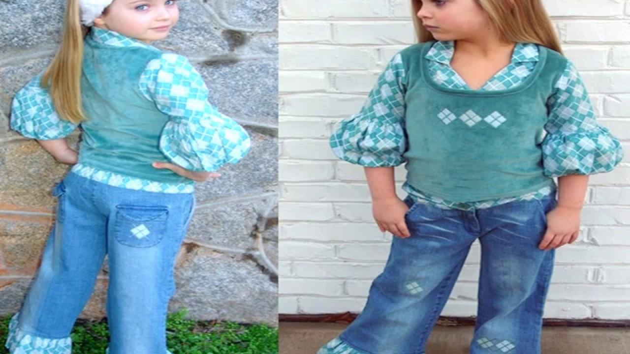 6372b750e4d99 احدث ملابس اطفال جينز - YouTube