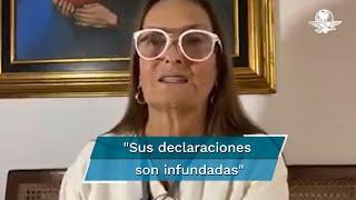 Patricia Armendáriz, CEO de Financiera Sustentable, se dirigió al medio británico y pidió respaldar con pruebas los dichos sobre el Presidente mexicano