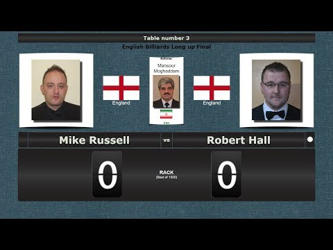Billiards Long up Final : Mike Russell vs Robert Hall