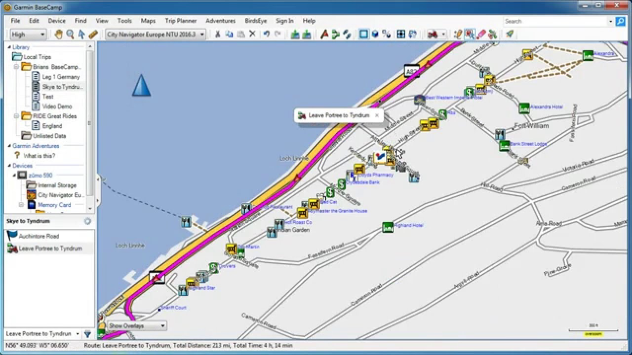 BaseCamp New Route Tool And Checking Shaping Points YouTube - Map route distance tool