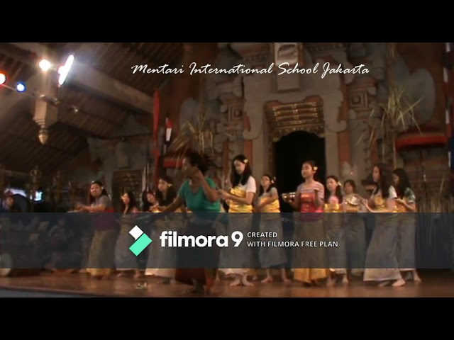Gamelan & Dance Lesson Mentari School Jakarta at Balerung Stage Peliatan