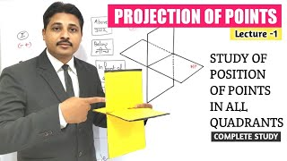 PROJECTION OF POINTS (LECTURE-1) IN ENGINEERING DRAWING AND GRAPHICS