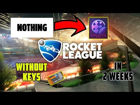 Trading From Nothing To A Mystery Decal In 2 Weeks Without Buying Keys | Rocket League | 2017