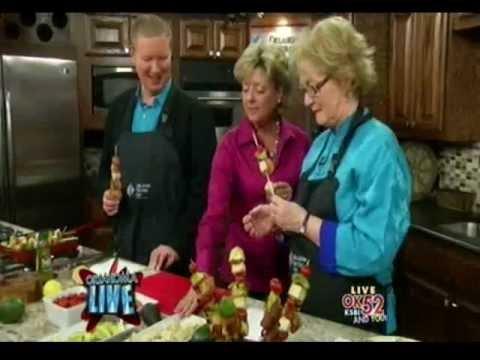 Tresa Hargrove on Oklahoma Live cooking Avocado Pylon Kickers television debut.wmv