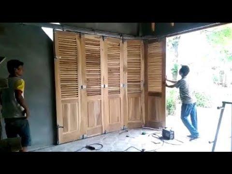 Cara Memasang Pintu Garasi Sliding Menikung - YouTube