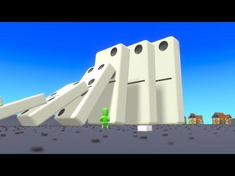 Dominos Snowball Effect  Simulation