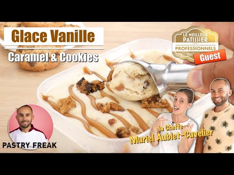 glace-maison-vanille-caramel-&-cookies---façon-ben-and-jerry's