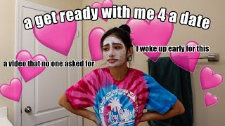 GRWM to go on a date with my boyfriend *its been a while*
