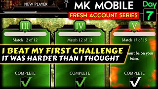 MK Mobile Fresh Acc๐unt Series Ep. 7. Tips on Beating Your First Challenge! Free Challenge Card!