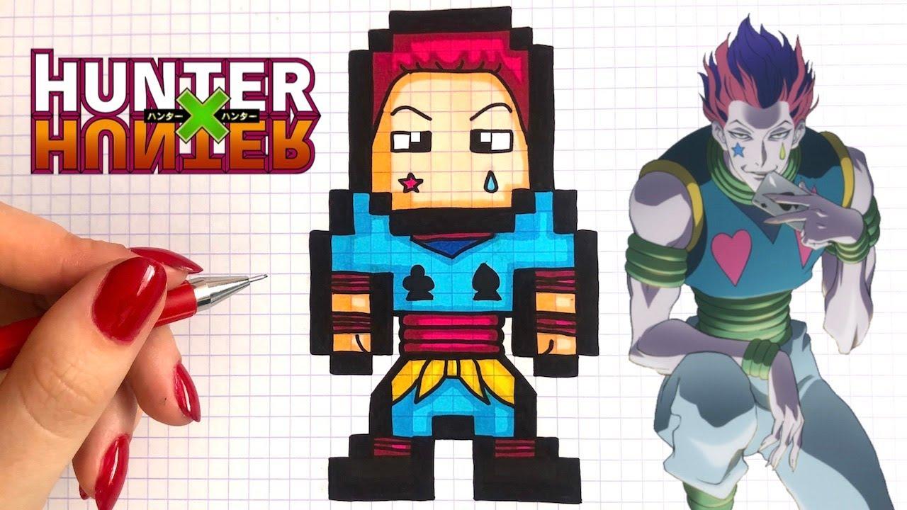How To Draw Hisoka Pixel Art Hunter X Hunter Youtube