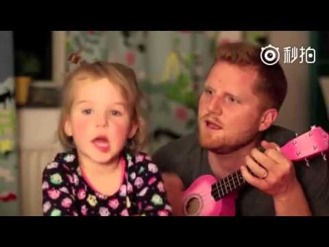 Daddy & His Little Girl Sing the Cutest Duet- Tonight You Belong to Me