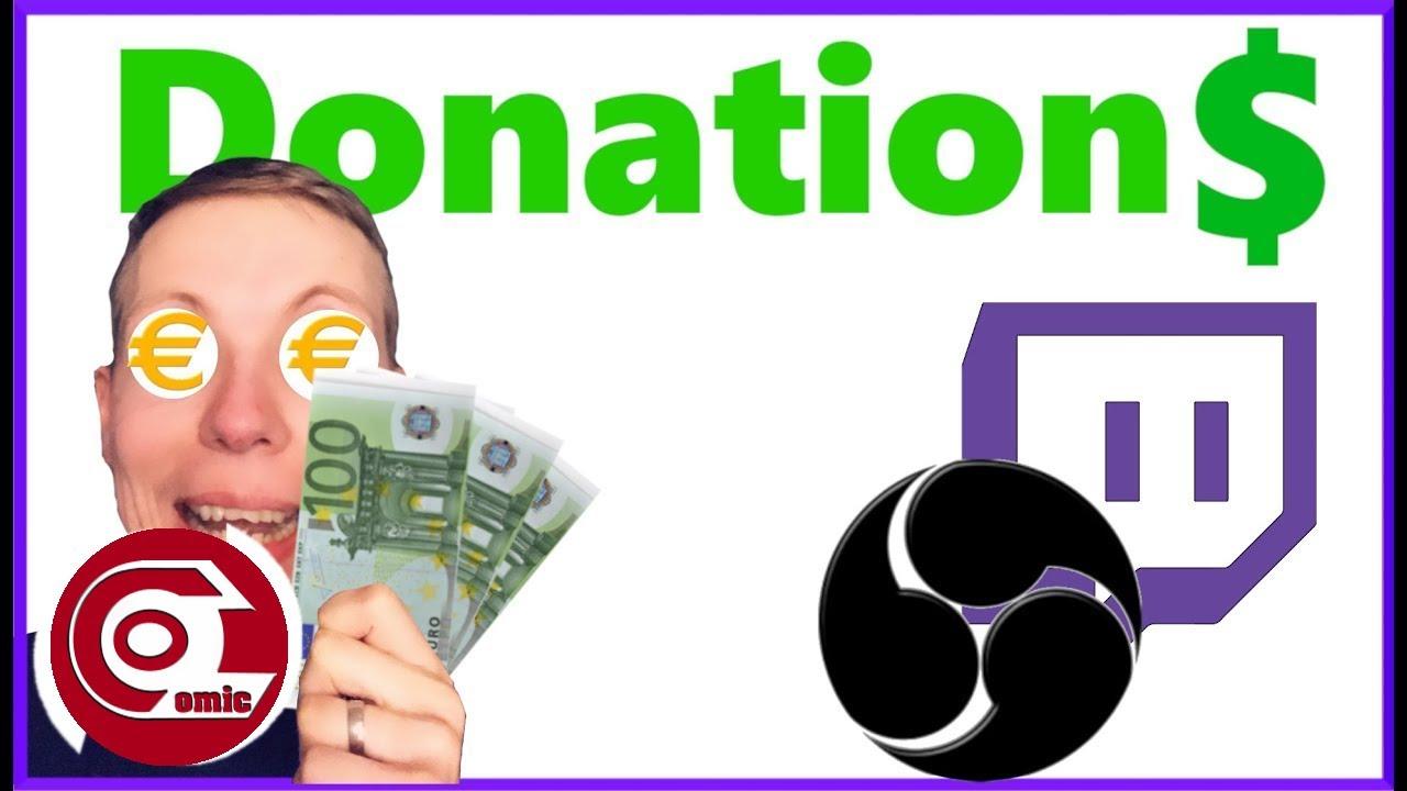 Twitch Donation einrichten O🅱S  Spenden einrichten  Ocomic