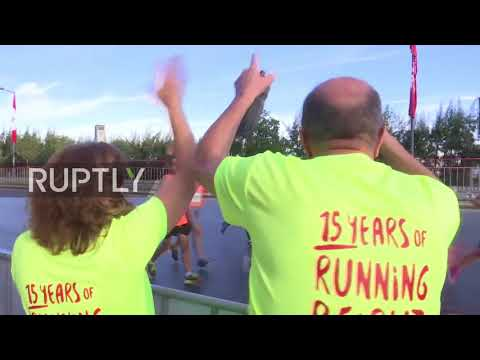 Lebanon: Marathon runners race for PM Hariri's return to Beirut