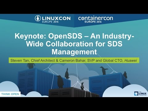Keynote: OpenSDS – An Industry-Wide Collaboration for SDS Management