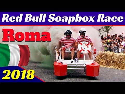 Red Bull Soapbox Race, Roma Villa Borghese 2018 Highlights! Funny Actions, Jumps, people & More!