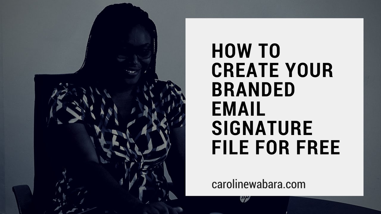 how to create a signature on gmail