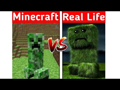 MINECRAFT CREEPER IN REAL LIFE! Minecraft Vs Real Life Animation (1)