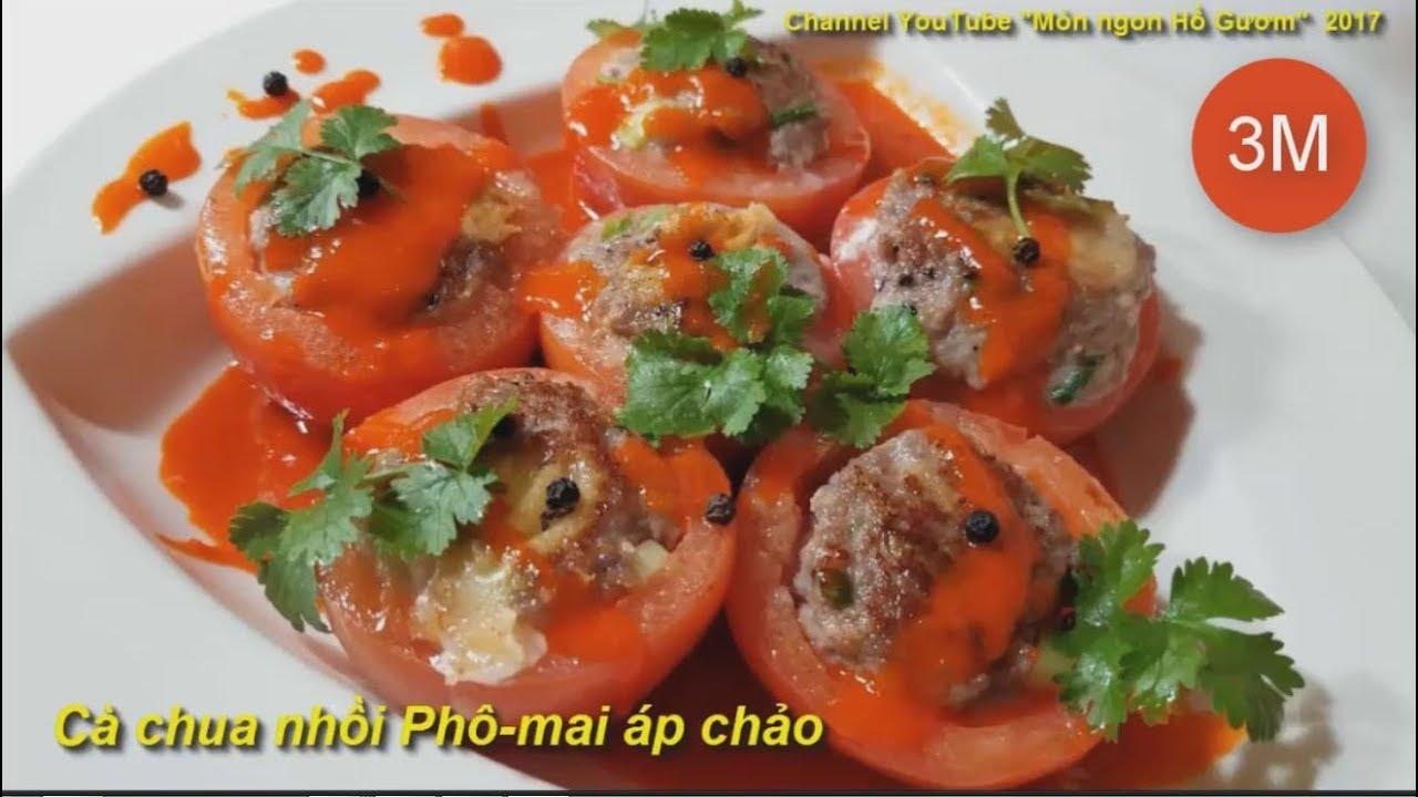 Cà chua Phô mai một món ăn bổ dưỡng Tomatoes stuffed with cheese MonngonHoGuom
