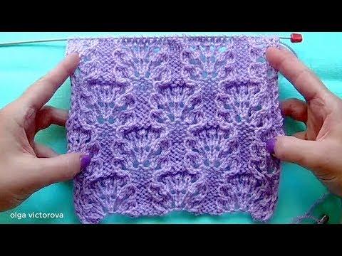 Как вязать узор розочки спицами