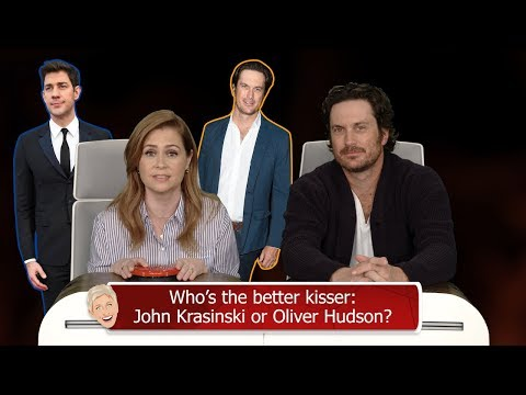 Jenna Fischer and Oliver Hudson Answer Ellen's 'Burning Questions'