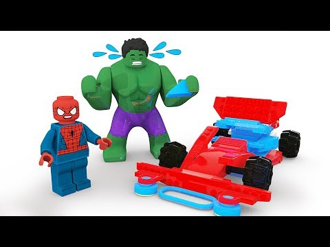 Thumbnail: Spiderman lego and Hulk Fail Building Car Brick ! Funny Lego Stop Motion 3D Animation in Real Life