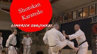 Shotokan karate training Yoko Geri - Limerick Shojinkai