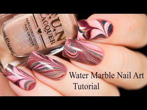 Water Marble Nail Art Tutorial