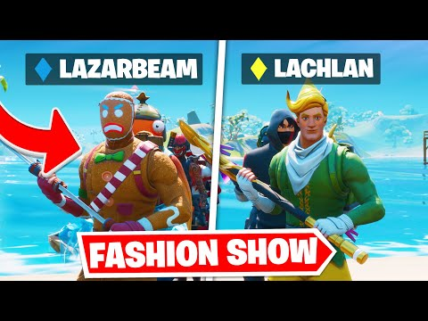 *YOUTUBER* Fortnite Fashion Show! FIRE Skin Competition! Best DRIP & COMBO WINS!