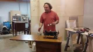 Refinishing An Antique Oak Sewing Machine   Timeless Arts Refinishing