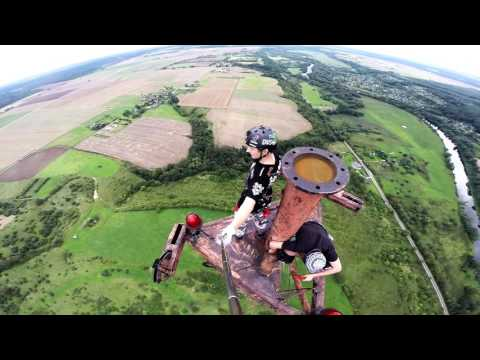 238 m radio antenna climb - Lithuania