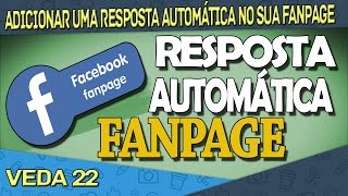 Como Colocsr Resposta Automática no Facebook | Ezec tech