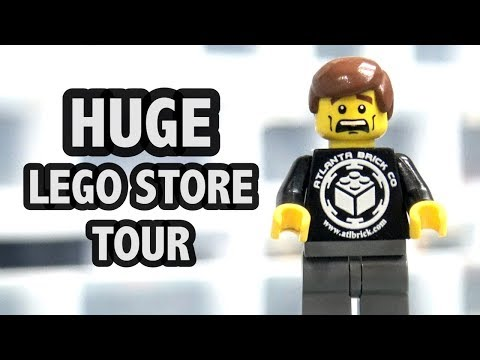Inside Atlanta Brick Co LEGO Store