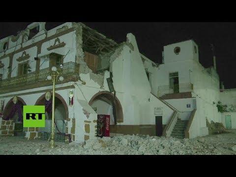 Devastación en Jojutla (Morelos) tras el fuerte terremoto de 7.1 en el centro de México