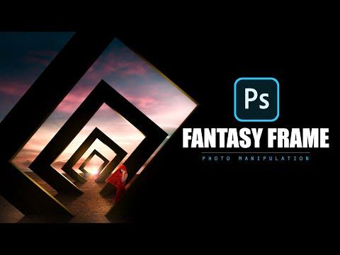Fantasy Frame Photo Manipulation Photoshop Tutorial !! 2019 !! 7studio777 thumbnail
