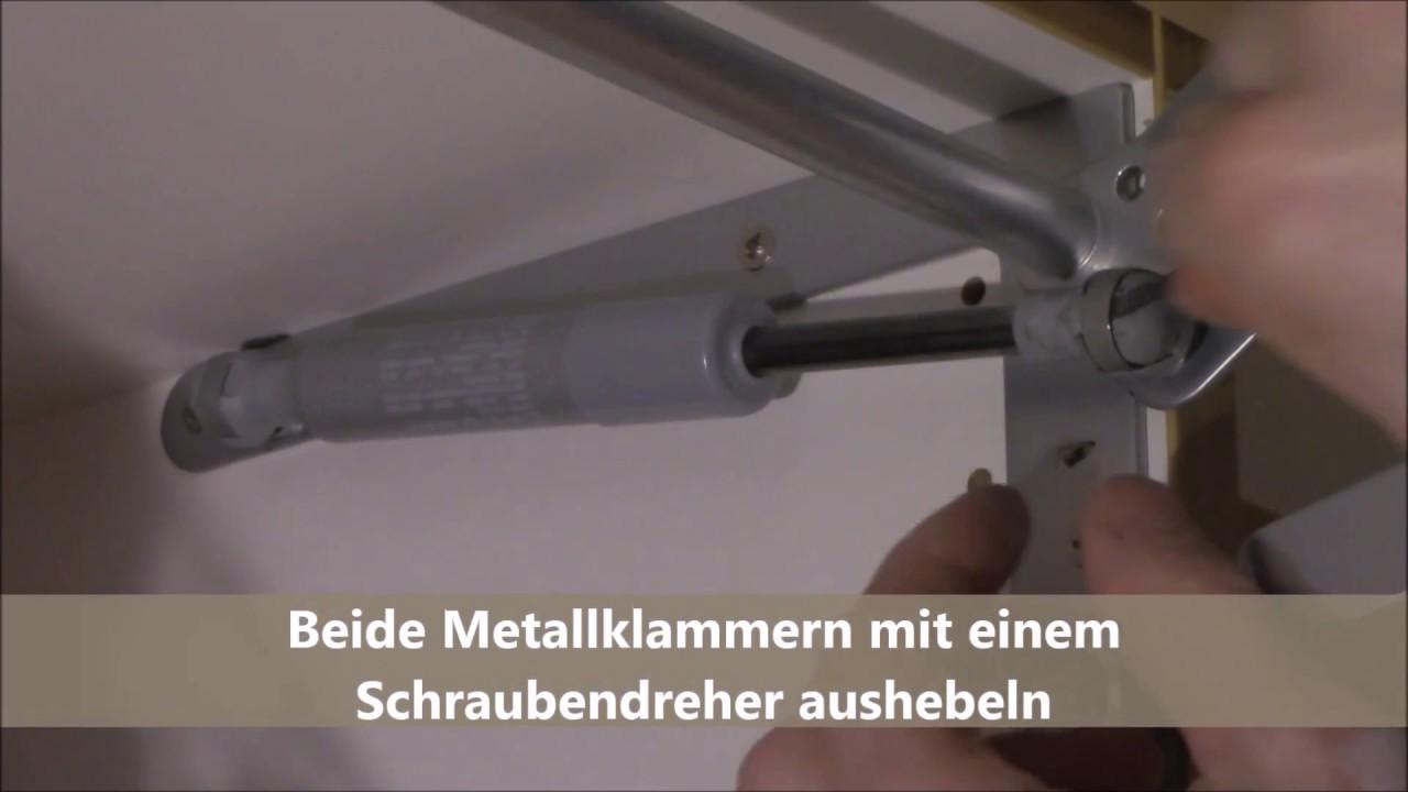 Gasdruckfeder Aus Und Einbauen Youtube