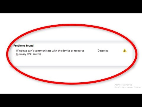 How To Fix Windows Can't Communicate With The Device Or Resource (Primary DNS Server) Windows 10/8/7