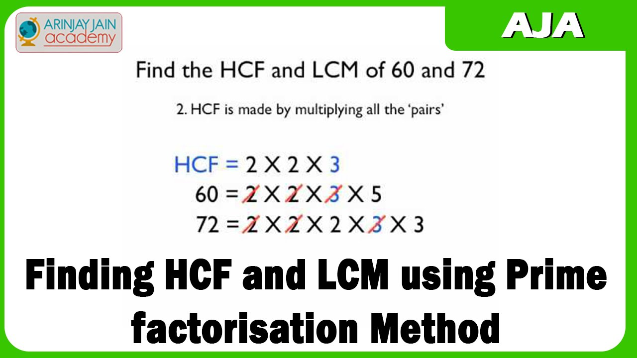 Mathematics - Finding HCF and LCM using Prime factorisation Method ...