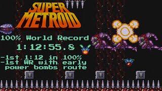 Super Metroid 100% speedrun in 1:12:55 (World Record)