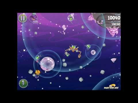 Angry Birds Space Cosmic Crystals 7-29 Walkthrough 3 Star