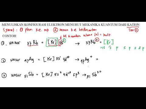 Konfigurasi Elektron Mekanika Kuantum Kation