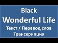 Black Wonderful Life текст перевод и транскрипция слов mp3