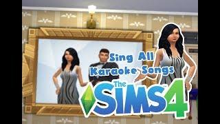 the Sims 4 Karaoke