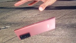 Galaxy Note 20 Ultra drop and scratch test