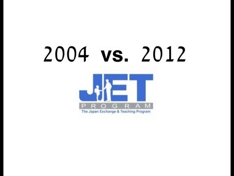 1st year as a JET in Japan - 2004 vs. 2012