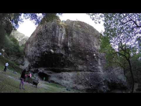 Rock climbing at Jilotepec, Mexico