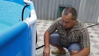 видео Как я почистил (осветлил) воду в каркасном бассейне  Bestway
